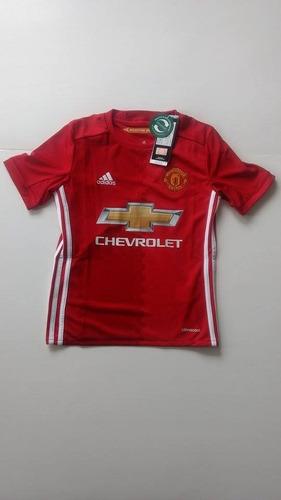 75688edb61db8 Camiseta Manchester United Niño 2016-2017 Titular adidas