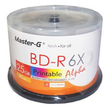 Pack 50 Unidades Discos Blu Ray 25gb Imprimibles Master-g 6x