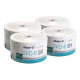 Pack 200 Unidades Dvd-r Virgen Master-g Estampado Logo 8x