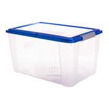 Caja Organizadora Transparente 65 Lts Con Broches