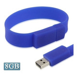 Flash Usb 8gb Silicon Bracelets 2.0 Disk Azul Oscuro
