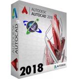 Programa Autocad 2018 Autodesk Español Original + Tutorial