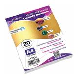Papel Vinilo Adhesivo Dorado Imprimible Cursor A4 20hojas