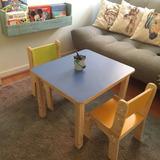 Mesa Y 2 Sillas Infantil Colores.