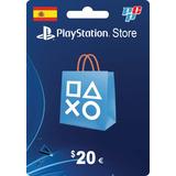 Tarjeta Psn Card 20 Euros Ps4 España Digital - Prepagochile
