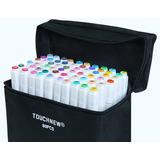80 Lápices Marcadores Doble Touchfive Original Blancos