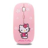 Mouse Inalambrico Hello Kitty Rosa Recargable 3d Ultra Fino