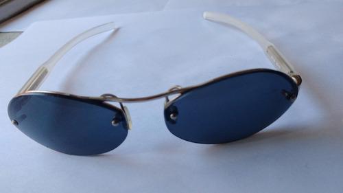 0b5816ed48 Lentes Sol Prada Spr57a Blue Silver Oval Originales Italy S