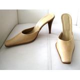 Zapato Sin Talon, Cuero, Beige,  Esisto Italy, Talla 39.5