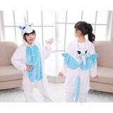 Pijama Unicornio Celeste Kigurumi Kawaii Niños Unisex