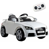 Auto Eléctrico Audi Tt Rs Blanco Niñ@s C/remoto Padres R3184