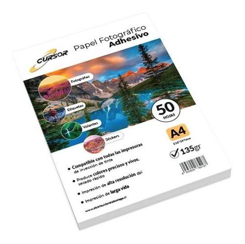 Papel Fotografico A4 135g Glossy Pack 50 Adhesivo