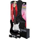 Pack De Guitarra Eléctrica Freeman Full Rock Negra