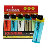 Pack 20 / Encendedores Transparentes Ronson Clearlite