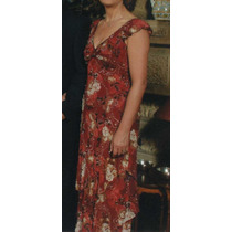 Vestido De Madrina, Gala O Fiesta, Importado Usa, 100% Seda