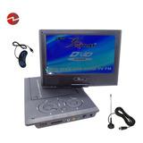 Mini Dvd Televisor Portátil 9 Tv Color, Fm,usb, Sd, 220v/12v