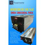 Inversor De Voltaje 24vdc/220vac 3000w Onda Sinusoidal Pura