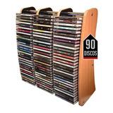 Organizador Cd Discos Música Repisa Rack Estante Hifi Full