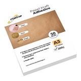 Papel Kraft Adhesivo Imprimible A3 200 Gr 50 Hojas Cursor