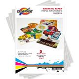 Papel Imantado 5 Hojas Tamaño A4 Magnetico Marca Creaprint