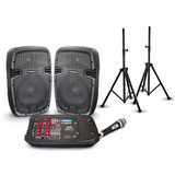 Parlantes Amplificados Portable Proco 210 Bluetooth + Atril