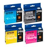 Pack 4 Epson T296 Original Xp-231 Xp-241 Xp-431 Xp-441 C/iva
