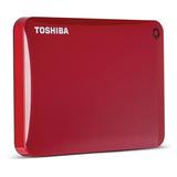 Disco Portátil Toshiba Canvio Connect De 2tb, Mac, Pc, Rojo