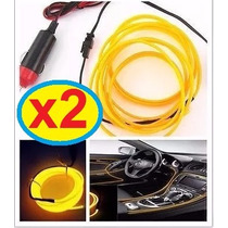 Pack 2 Cable Hilos Luces De Neón 3 Mts