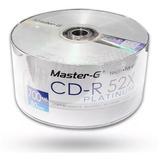 Pack De 50 Discos Cd-r 52x Master-g Platinum De 700mb