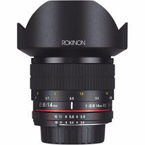 Lente Rokinon 14mm F/2.8 If Ed Umc Para Nikon Con Chip Ae