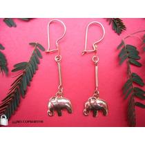 Aros De Oro 18 K Elefantes , Maravillosos Y Ex