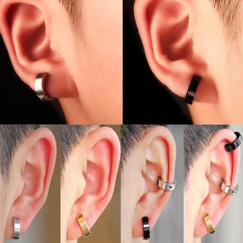 28bc8ddf6c36 Aro Piercing Clip Falso Acero (no Necesita Perforacion) Par