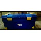 Baul O Caja Organizadora De 90 Litros De. Plástico Con Rueda