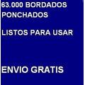 63.000 Bordados Cualquier Bordadora Tajima Brother Janome