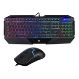 Kit Gamer Teclado Y Mouse Iluminado Hp Gk1100