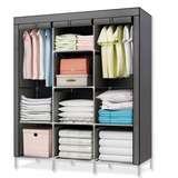 Closet Ropero Armable Transportable Gris - R5620