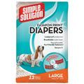 Pañal Simple Solution De Mascota Blanco Large (dogs  Lbs)