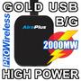 2000mw Usb Wifi + Antena 5dbi - Wifislax Backtrack Beini Mac
