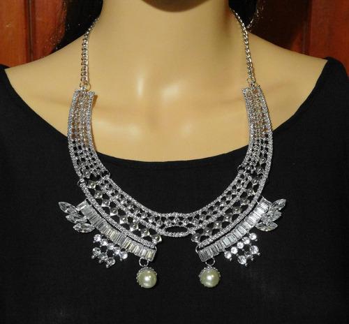 110dd32844db Collar Mujer Perlas Fantasia Diseño Exclusivo Joyas