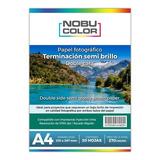 Papel Foto Semi Brillo Doble Cara Nobucolor A4 270 Gr.