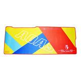 Mouse Pad Gamer Xxl Diseño Amarillo Rojo Tapete 80x30 Cm