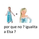Liquido Disfraz  Elsa Frozen  Talla ,4,5 ,6 Con Peluca