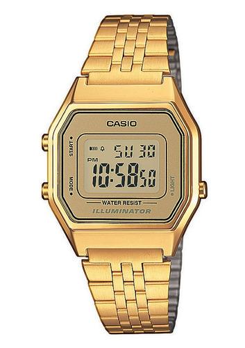dbf3d78085b1 Reloj Retro Casio Dorado La680 Gold Mujer