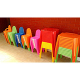 Sillas Y Mesas Plasticas Infantiles Apilables