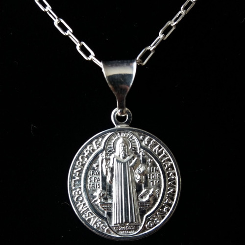 5331d8237eb0 Medalla De Plata De San Benito De1.7cm Incluye Cadena