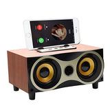 Parlante Bluetooth Desktop Portable Wooden Wireless  Surroun