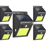 Pack X5 Foco Solar Exterior 48 Led Con Sensor De Movimiento