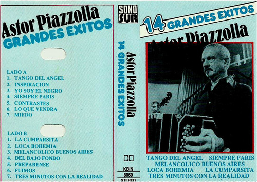 Cassette    Astor Piazzolla       14 Grandes Éxitos
