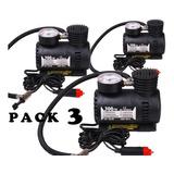 Pack 3 Compresor Aire Portátil 12v 300 Psi / 250 Psi