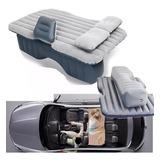Colchon Inflable Con Compresor 12v Y 2 Almohadas Para Auto